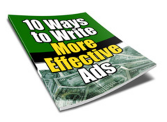 Product picture 10 Ways to Write More Effective Ads